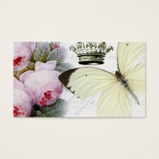 Fjäril, ro och krona visitkort