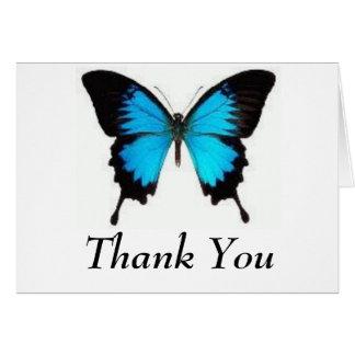 Fjäril tack hälsnings kort