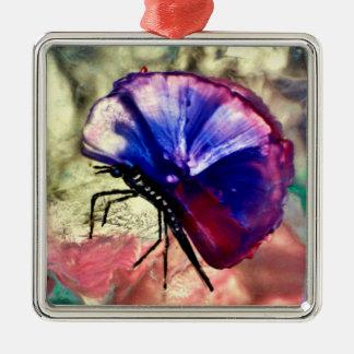 Fjärilar djur, Encaustic, Julgransprydnad Metall