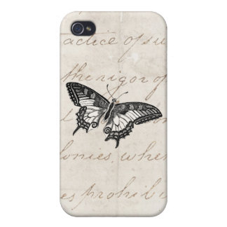 Fjärilar för vintagefjärilsillustration 1800 s iPhone 4 cases
