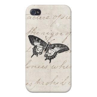 Fjärilar för vintagefjärilsillustration 1800's iPhone 4 cover
