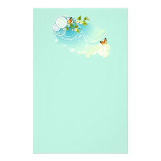 Fjärilar och blommablommar brevpapper