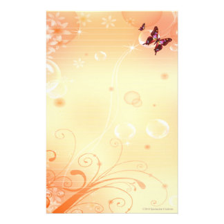 Fjärilar och bubblar stationärt brevpapper