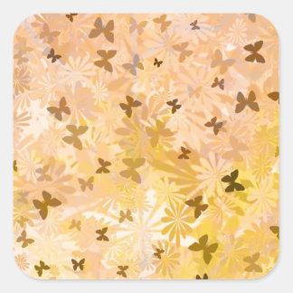 Fjärilar och daisy av Shirley Taylor Fyrkantigt Klistermärke