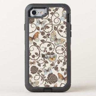 Fjärilar och ro på kräm OtterBox defender iPhone 7 skal