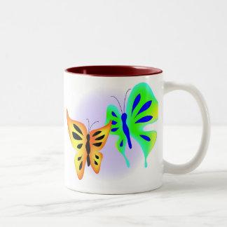 Fjärilar Två-Tonad Mugg
