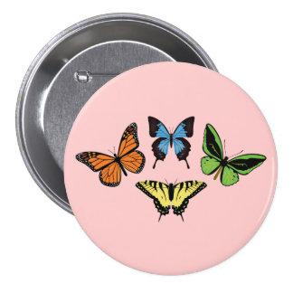 Fjärilen knäppas mellanstor knapp rund 7.6 cm