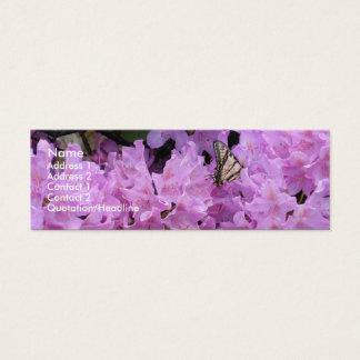 Fjärilen profilerar kortet litet visitkort