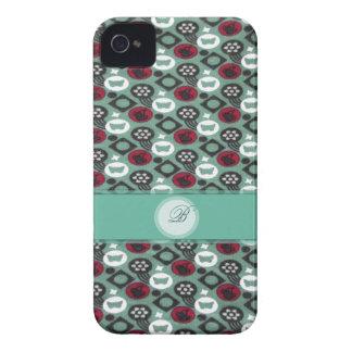 Fjärils- och körsbärfruktmönster iPhone 4 cover