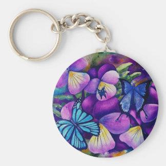 Fjärils- och Panseys nyckelring