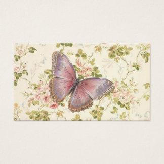 Fjärils- & Vinesshabby chictelefonkort Visitkort