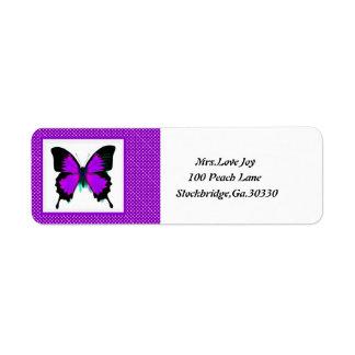 Fjärilsadress Lables Returadress Etikett