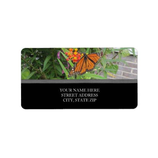 Fjärilsadressetiketter Adressetikett