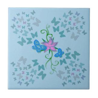 Fjärilsblått Liten Kakelplatta