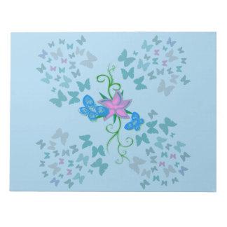 Fjärilsblått Scratch Papper
