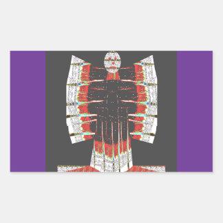 Fjärilsblåttängel som göras av Embroidered bomull Rektangulärt Klistermärke