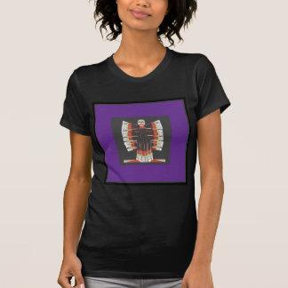 Fjärilsblåttängel som göras av Embroidered bomull T Shirt