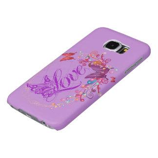 Fjärilskärlek Samsung Galaxy S6 Fodral