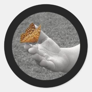 Fjärilsklistermärkear Runt Klistermärke