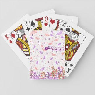 FjärilsMonogram som leker kort Casinokort