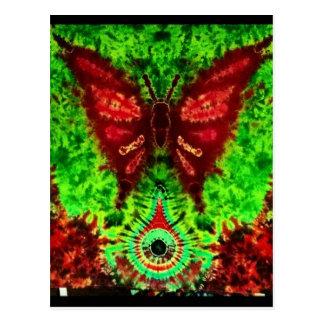 Fjärilsöversvallande beröm vykort