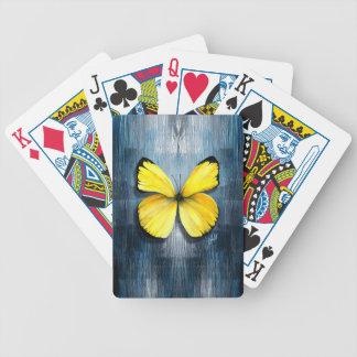 fjärilssamling: gul fjäril spelkort