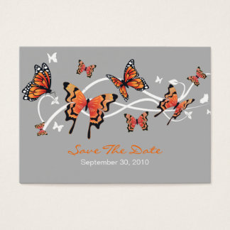 Fjärilsspara daterabröllopanpassningsbar MiniCard Visitkort
