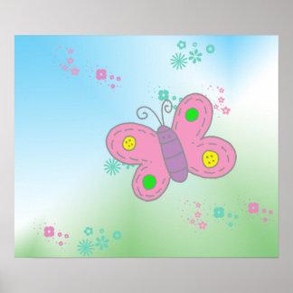 Fjärilstryck Poster