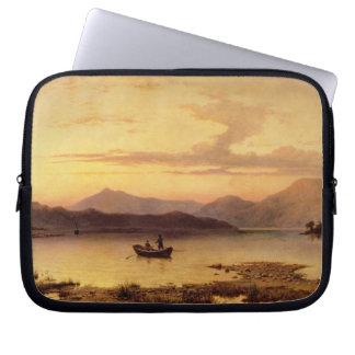 Fjord Etive, från Bonawe - afton, 1875 (olja på ca Laptop Datorskydd