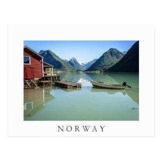 Fjorden landskap i vykort för norgevittext