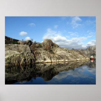 Fjordreflexioner 1 poster