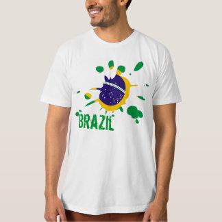 fläck för brazil flaggafläck tee shirt