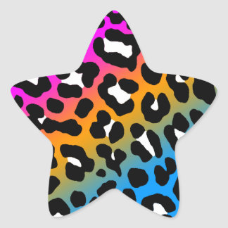 Fläckar för Leopard för Corey tiger80-tal Stjärnformade Klistermärken