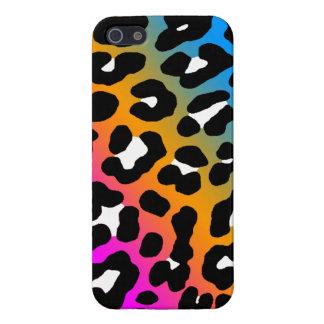 Fläckar för Leopard för neon för Corey tiger80-tal iPhone 5 Fodral