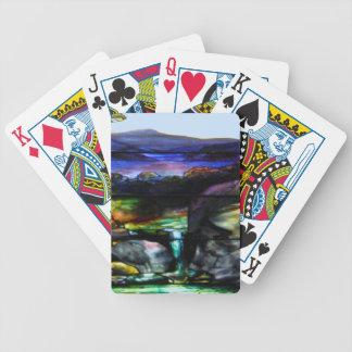 Fläckexponeringsglasnatur Spelkort