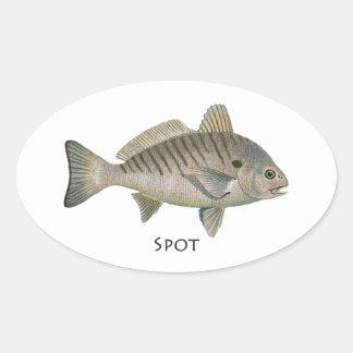 Fläckfisk Ovalt Klistermärke