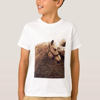 Fläckig häst och buss t shirts
