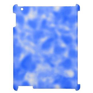 Fläckiga blått och vit iPad mobil fodral