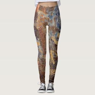 Fläckigt mönster för grafisk skamfilad leggings
