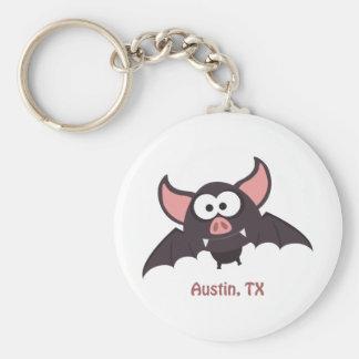 Fladdermöss - Austin, Texas Rund Nyckelring
