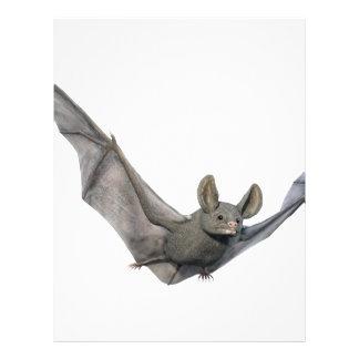 Fladdermöss med vingar på upstroken brevhuvud