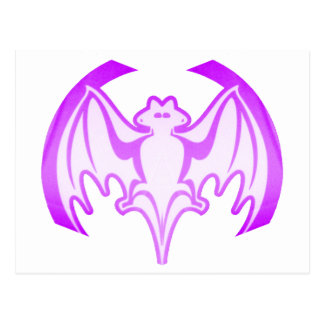 Fladdermöss purpurfärgade Inv de MUSEUMZazzle Vykort