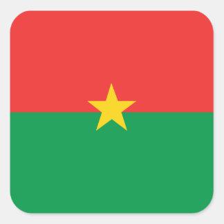 flag_burkina_farso fyrkantigt klistermärke