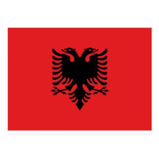 Flagga av Albanien Vykort