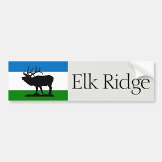 Flagga av älgen Ridge, Utah bildekal