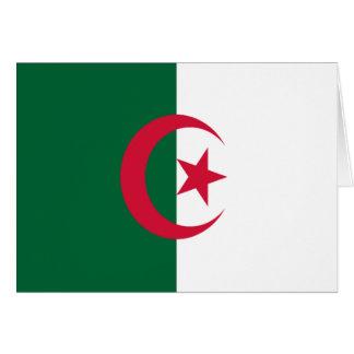Flagga av Algeriet Hälsningskort