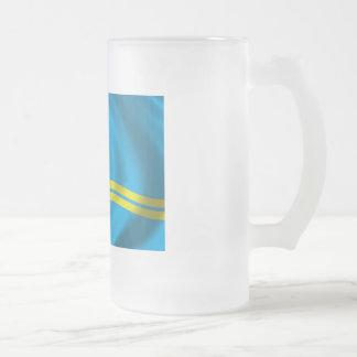 Flagga av Aruba Frostad Glas Mugg