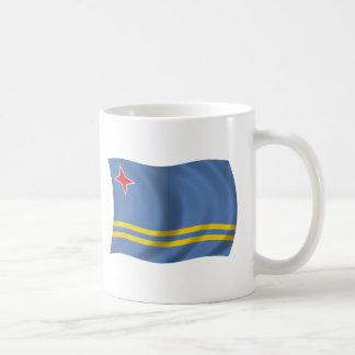 Flagga av Aruba Vit Mugg