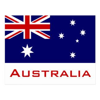 Flagga av Australien Vykort
