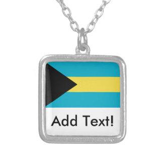 Flagga av Bahamas Silverpläterat Halsband
